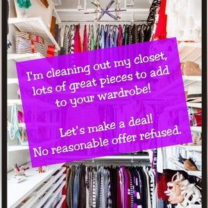 Other - Closet cleanout sale! No reasonable offer refused!